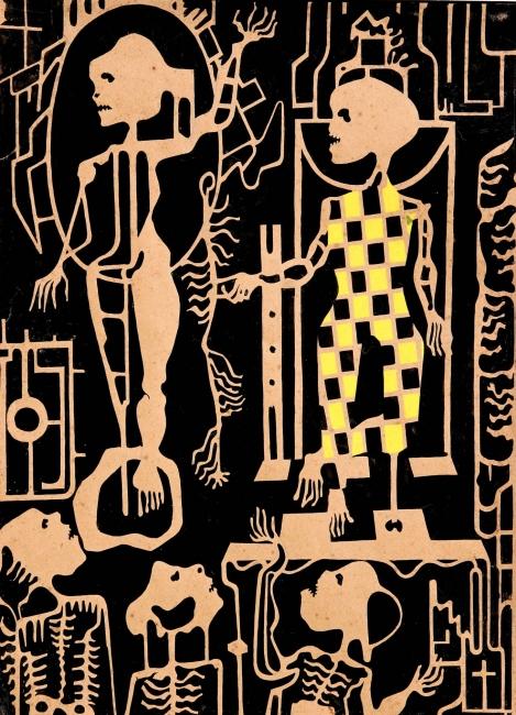 Juan Batlle Planas. Radiografía paranoica, 1936. Témpera sobre papel, 34x28 cm. Colección particular. Crédito fotográfico: © Juan Molina y Vedia – Cortesía de la Fundación Juan March