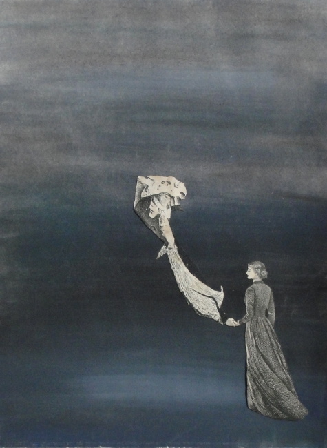 Juan Batlle Planas, Sin título, 1939. Témpera y collage sobre papel, 31x23,5 cm. Colección Silvia Batlle. Crédito fotográfico: © Juan Molina y Vedia – Cortesía de la Fundación Juan March