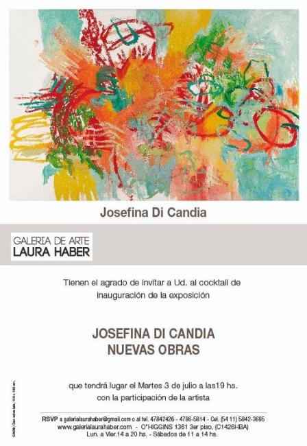 Josefina Di Candia. Nuevas Obras