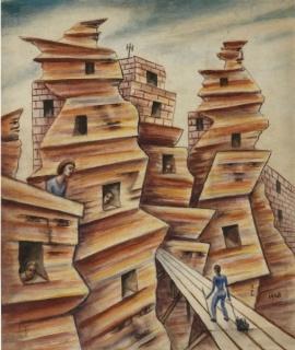 """Xul Solar, \""""Celdas na roca\"""", 1948"""
