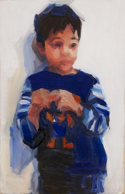 Pablo Noce. Dantu. 30x15 cm. óleo sobre madera. 2017. Imagen cortesía Galeria Laura Haber
