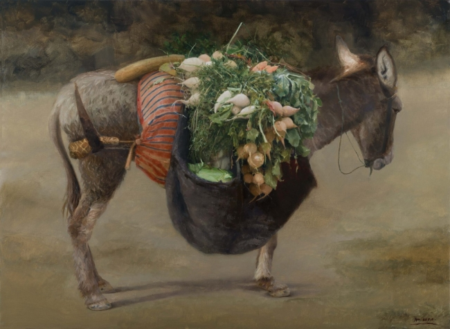 Manuel Cano, Mercadillo ambulante – Cortesía de la Galería Benot | Ir al evento: 'Caballo de pobre / Poor man's horse'. Exposición en Benot / Cádiz, España