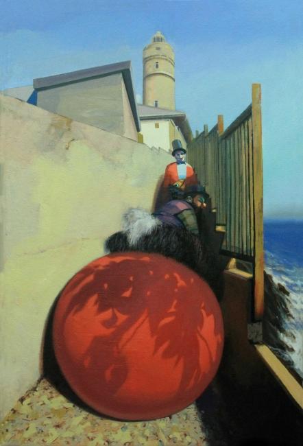 Juanjo Viota, El faro, 2015. Óleo sobre lienzo, 91x60cm. – Cortesía de es.Arte Gallery