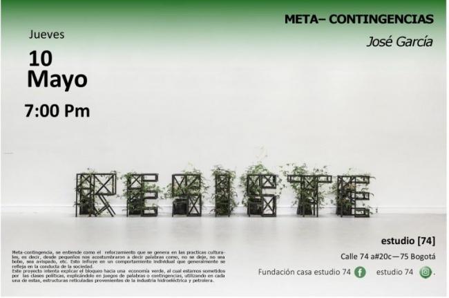 banner   Ir al evento: 'META-CONTINGENCIAS'. Exposición de Escultura en Fundación Casa Estudio 74 / Bogotá, Distrito Especial, Colombia