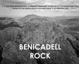 Hamish Fulton, BENICADELL ROCK, 2016. Fotografía a las sales de plata, 78x94 cm. Colección Per Amor a l'Art — Cortesía Bombas Gens Centre d'Art