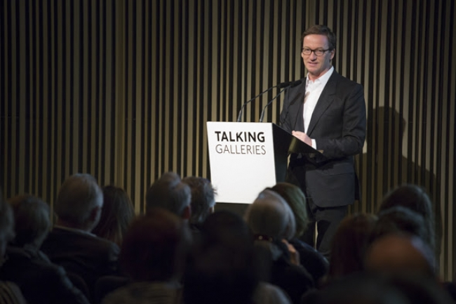Thaddaeus Ropac, Barcelona Symposium 2017 – Cortesía de Talking Galleries