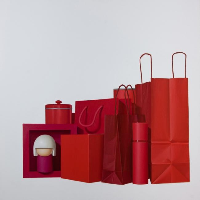 Red live. ( 81 x 81 cm )