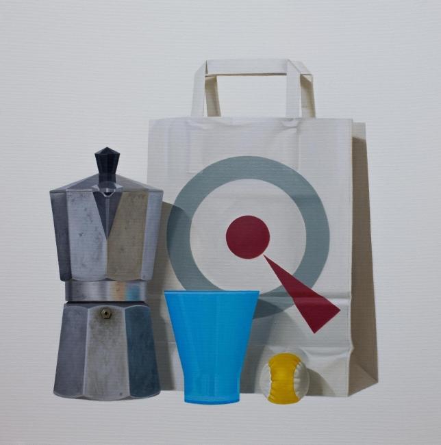 La copa azul ( 50 x 50 cm )
