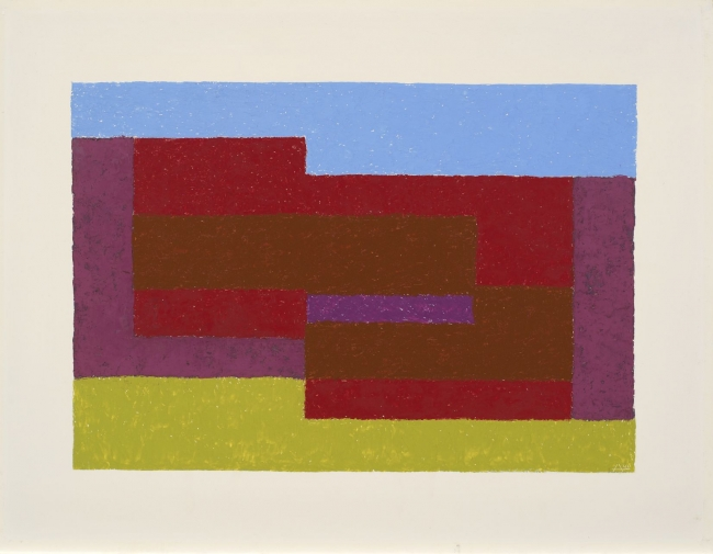 Josef Albers, To Mitla, 1940. Oil on Masonite, 53.3 × 71.1 cm. The Josef and Anni Albers Foundation © 2017 The Josef and Anni Albers Foundation/Artists Rights Society (ARS), New York