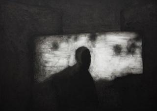 Untitled, 2017 Oil, ink, acrylic medium on canvas 137,2 x 190,5 cm