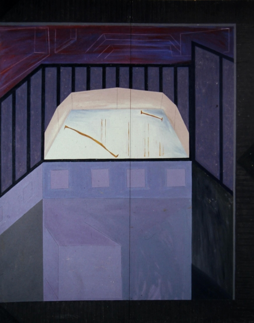 """Pedro Calapez, """"S/ título"""", 1988. Acrílico sobre madeira, 200x160 cm. – Cortesía de la Fundação Bienal de Arte de Cerveira"""