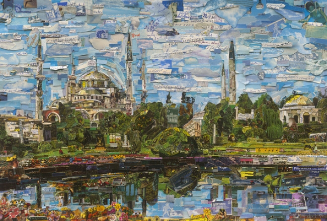 Vik Muniz, Postcards from Nowhere: Istanbul, 2017. Digital C-print, 101 x 150 cm. Courtesy of the artist and Dirimart.