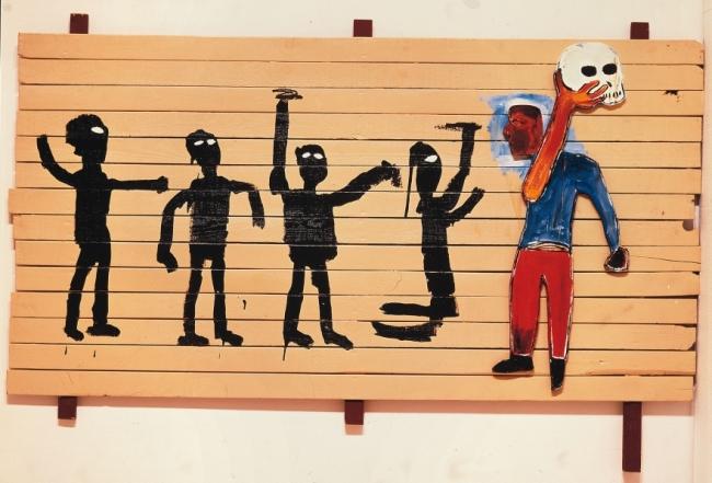 """""""Procissão"""", 1986 (imagem: The Estate of Jean-Michel Basquiat. Licensed by Artestar, New York)v"""