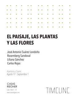 EL PAISAJE, LAS PLANTAS Y LAS FLORES