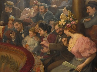 Detalle. Une Matinée au café-concert de Juan Harris. Cortesía de MNBA