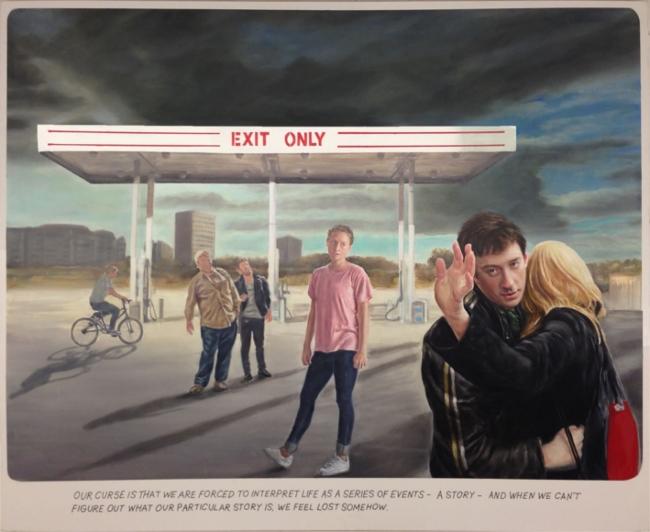 Muntean & Rosenblum, Untitled (Our course is...) (2015) – Cortesía del Museo de Arte Contemporáneo Gas Natural Fenosa (MAC)