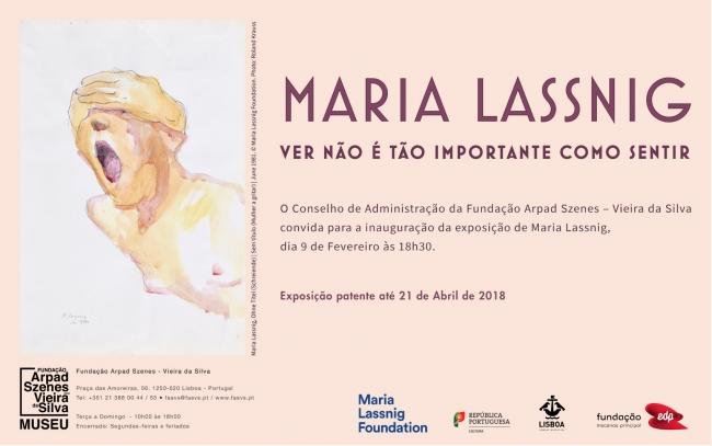 Maria Lassnig. Ver não é tão importante como sentir