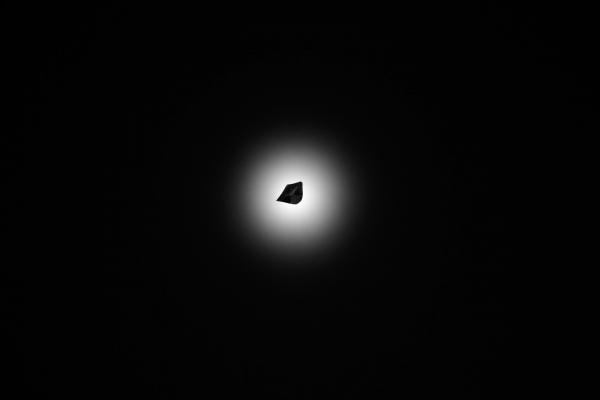 Tomás Saraceno, Eclipse of the Aerocene Explorer, 2016. Performance in Salar de Uyuni, Bolivia, January 2016, during Tomás Saraceno's artistic expedition © photography by Studio Tomás Saraceno, 2016.