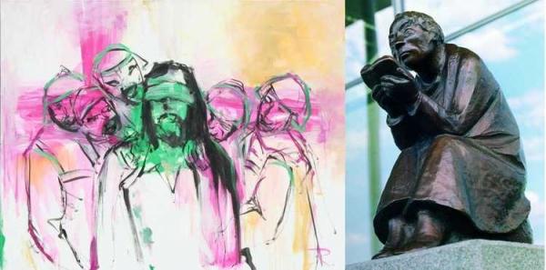 Jorge Rando | Ir al evento: 'Ernst Barlach- Jorge Rando: Místicos de la Modernidad. Expresionismo ayer y hoy'. Exposición de Escultura, Pintura en Iglesia Martin-Luther Emden / Emden, Niedersachsen, Alemania