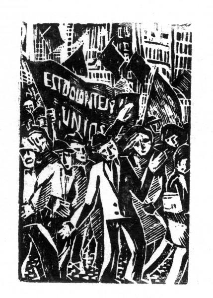 Víctor Rebuffo, Manifestación, 1935