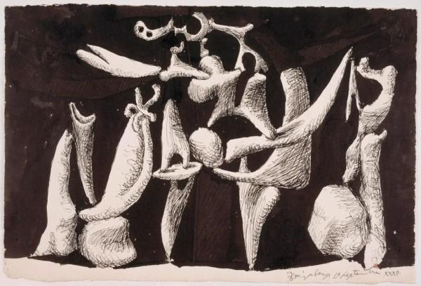 Pablo Picasso, La Crucifixión, 1933. Musée Picasso de Paris (C) RMN-GRand Palais