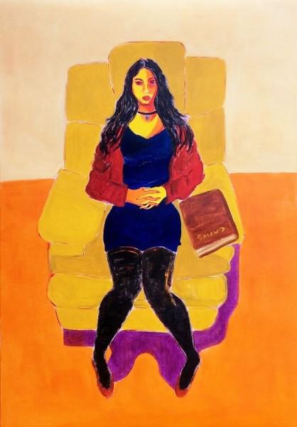 Mujer y libro