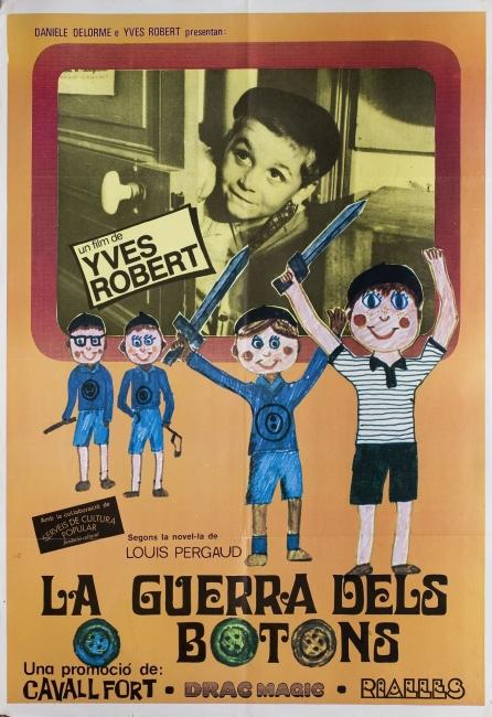 """Cartel La Guerre des botons, 1962. Yves Robert – Cortesía de la Obra Social """"la Caixa"""""""
