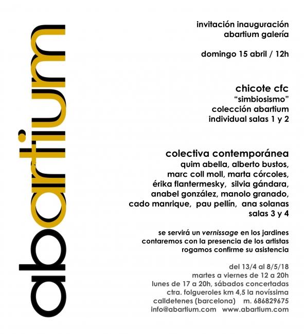 Invitación | Ir al evento: 'Simbiosismo'. Exposición de Fotografía, Pintura en Abartium / Calldetenes, Barcelona, España