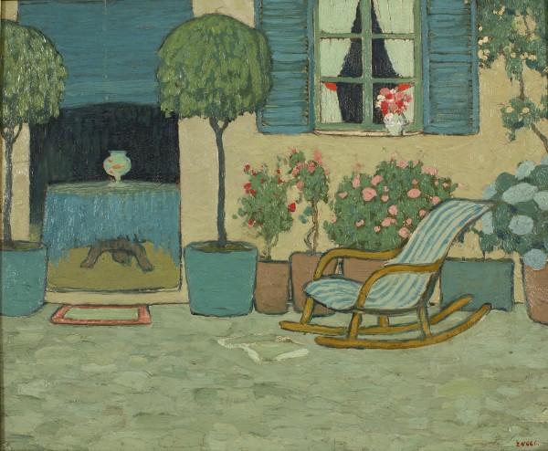 Patio con mecedora, Pere Torné Esquius, 1910-1925