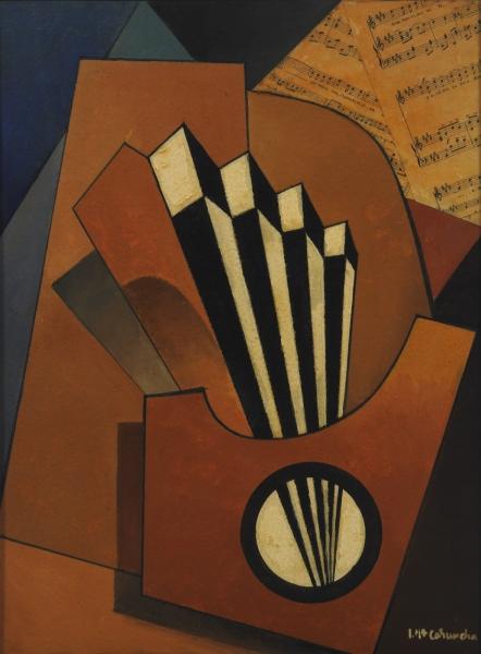 Abanico y azul, de Luis Caruncho, 1954