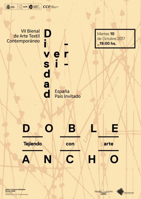 DOBLE ANCHO, TEJIENDO CON ARTE. Imagen cortesía CCE Montevideo