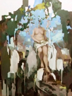 Ariel de la Vega,Alegoría 120x110 cm., óleo sobre tela, 2015