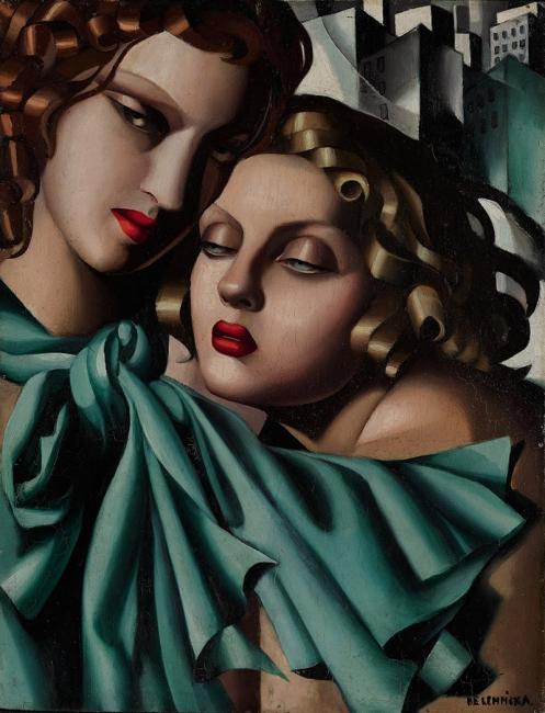 Tamara de Lempicka, The young girls, 1930 ca. © Tamara Art Heritage. Licensed by MMI NYC / ADAGP Paris / Tamara de Lempicka, VEGAP Madrid, 2018