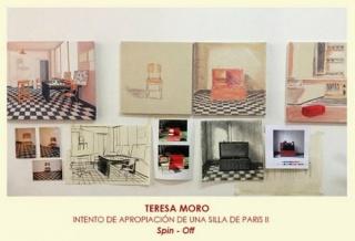TERESA MORO, Intento de apropiación de una silla de París II