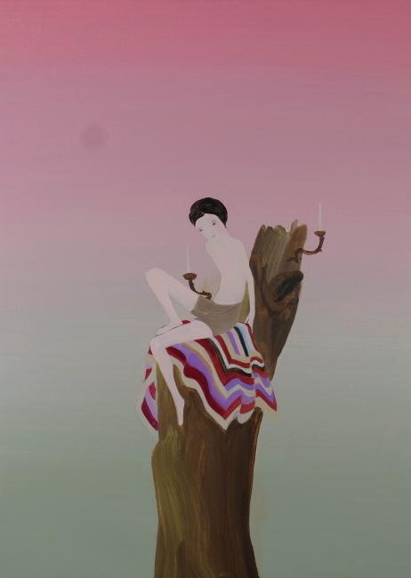 Hogar, 2018, acrylic on linen, 55 x 76 cm