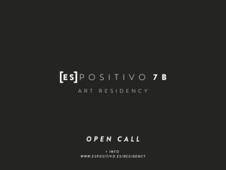 Convocatoria internacional de residencias artísticas Espositivo 7B