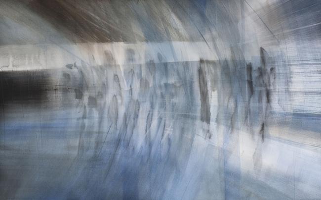 Extraños II, 2016. Acuarela sobre papel, 65x102 cm