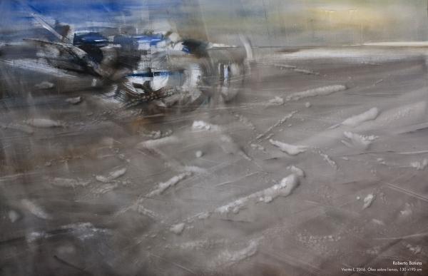 Viento I, 2016. Óleo sobre lienzo, 130 x 195 cm
