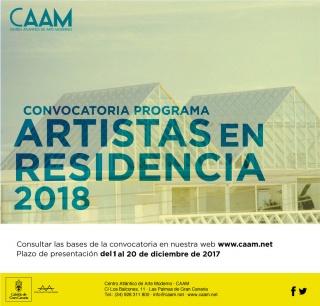 Programa Artistas en residencia 2018