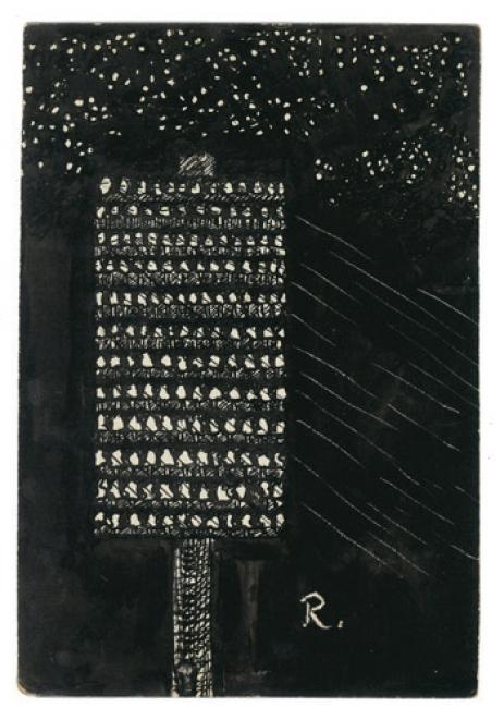 Ramón Gómez de la Serna, Greguerías, 7ª, Blanco y Negro, núm. 2.197, 23 de julio de 1933. Tinta sobre cartón. Museo ABC, Madrid – Cortesía del Museo ABC