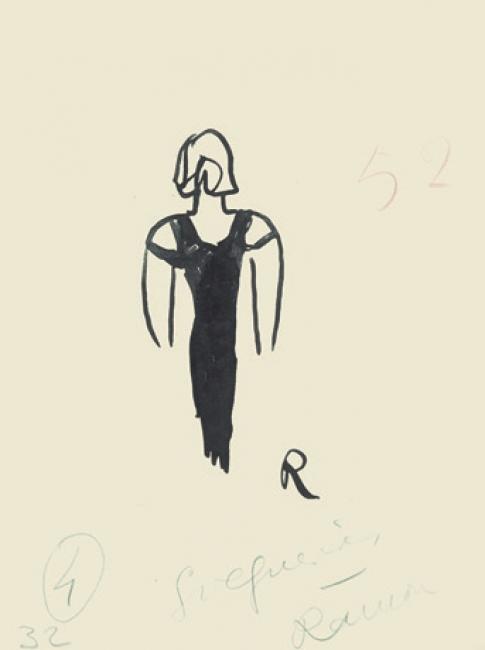 Ramón Gómez de la Serna, Greguerías, 6ª, Blanco y Negro, núm. 2.166, 18 de diciembre de 1932. Tinta y grafito sobre cartulina. Museo ABC, Madrid – Cortesía del Museo ABC