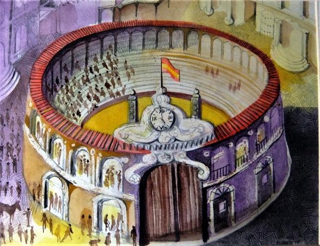 Gran plaza de toros | Ir al evento: 'Pinturas y dibujos en Marco Polo'. Exposición de Pintura en Marco Polo / Madrid, España