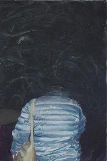 Sin título. José Carlos Naranjo. 30 x 20 cm. Óleo sobre aluminio. 2017