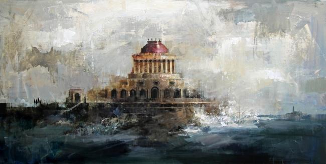 Ricardo Galán Urréjola, Palacio en el mar II – Cortesía de la galería Benot