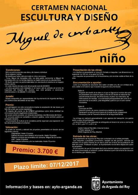 Certamen nacional de escultura y diseño. Miguel de Cervantes