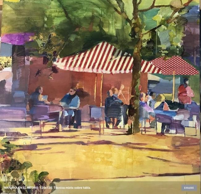 Mañana en el Retiro   Ir al evento: 'Anas'. Exposición de Pintura en Montsequi / Madrid, España