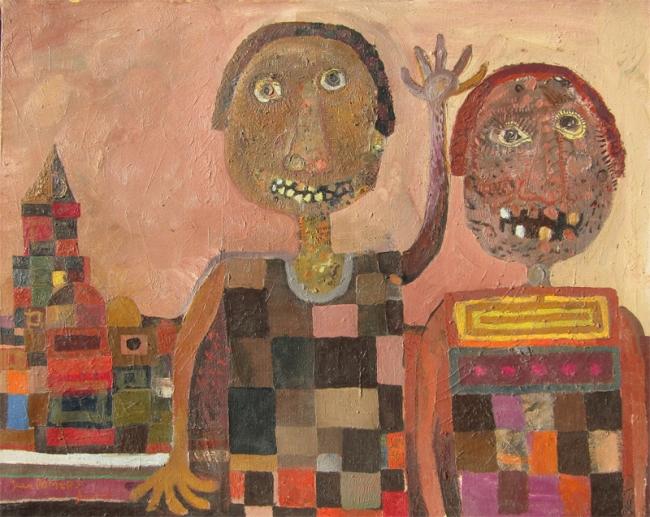 Juan Romero, LES ÉCOLIERS MAGENT AUSSI DU CAMEMBERT | Ir al evento: 'De los 60 a la actualidad'. Exposición de Pintura en Galería de Arte Marmurán / Alcázar de San Juan, Ciudad Real, España