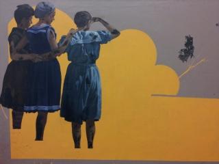 Juan Miguel Pozo, Horizon, acrylic on canvas – Cortesía de Ge Galería