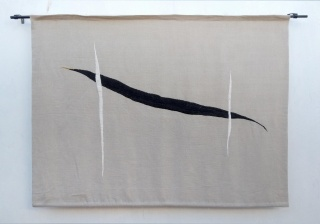 Pájaro. Bordado sobre lino. 100x133 cm. 2018
