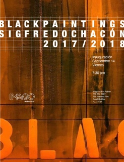 Sigfredo Chacón. Black Paintings 2017/2018
